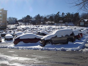 On campus, Feb. 2011.
